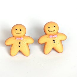 Gingerbread Folk Studs