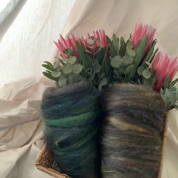 Opal silk alpaca spinning rovings