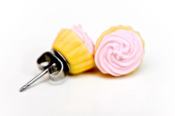 Pink Cupcake Studs