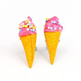 Pink Ice Cream Studs