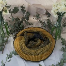 Alpaca Eco scarf, recycled yarns, unique, mustard scarves