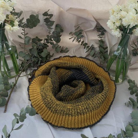 Alpaca Eco scarf, recycled yarns, unique, mustard scarves