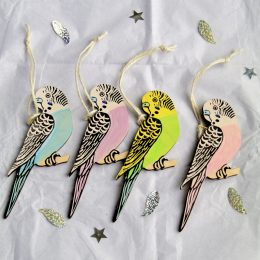 Budgie hanging decoration