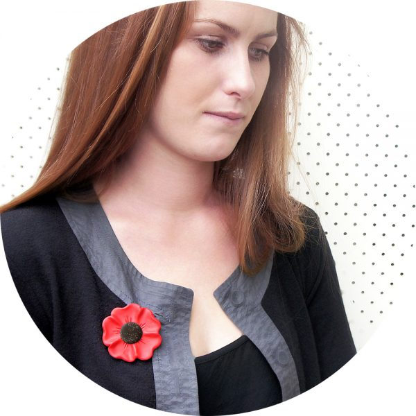 Unique handmade contemporary poppy design brooch. AS SEEN IN GOOD WEEKEND. Wear an original piece of art! Next Romance Jewellery COLOURS: warm red or coral bright red. Make it collective handmade unique poppy brooch Anzac Rememberance