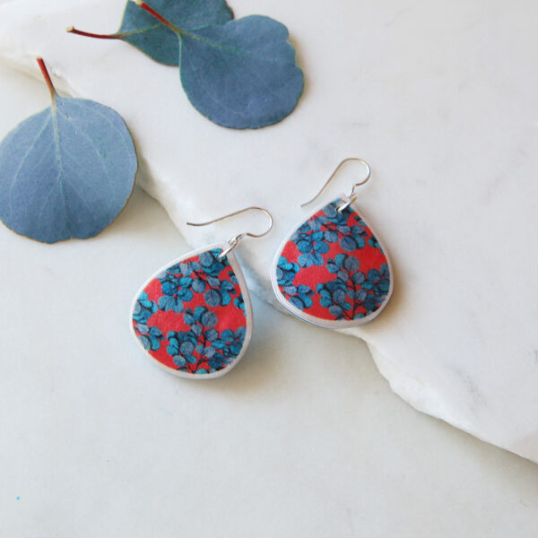 small red blue gum eucalyptus earring design new next romance jewellery australian made unique