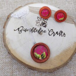 Japanese Cherry Wood Red Floral