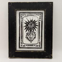 Herbal Horoscope Print in black distressed frame