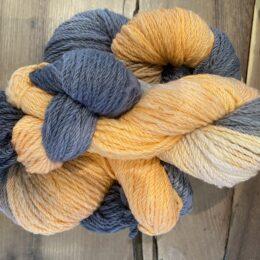 Alpaca Wool Yarn 8ply Orange and Grey